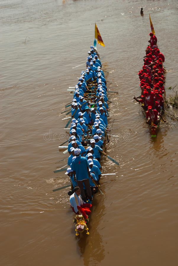 Kambodschanische WasserRegatta stockfotos