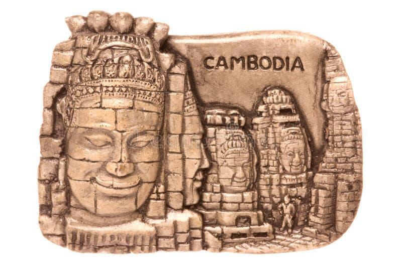 Kambodschanischer Kühlraum-Magnet getrennt lizenzfreie stockfotografie