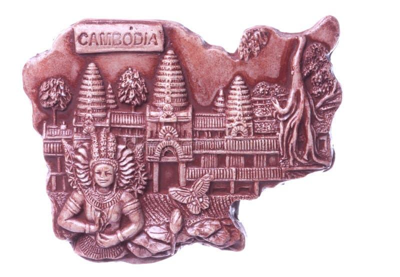 Kambodschanischer Kühlraum-Magnet trennte stockfoto