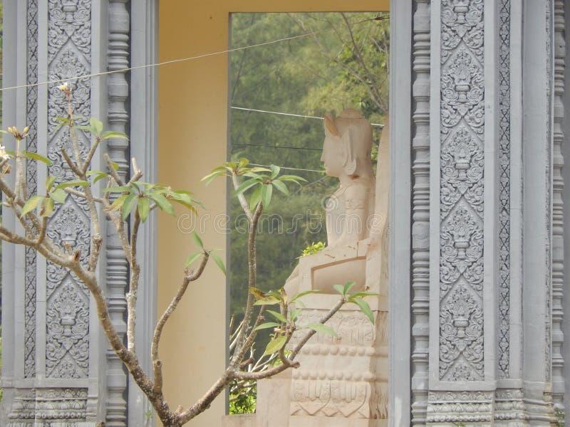 Kambozha statue from the side, Asia Buddha statue stock photography