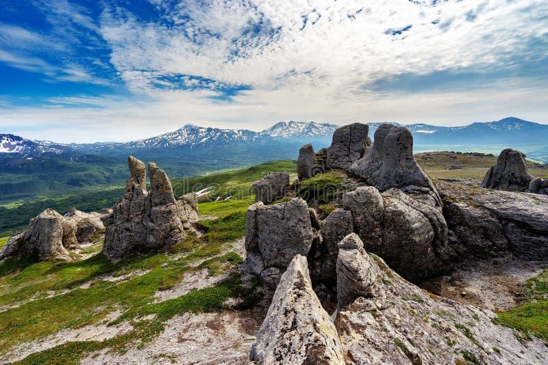 kamchatka Città di pietra immagine stock libera da diritti