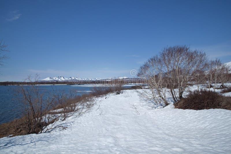 Kamchatka halvö, natur royaltyfria foton