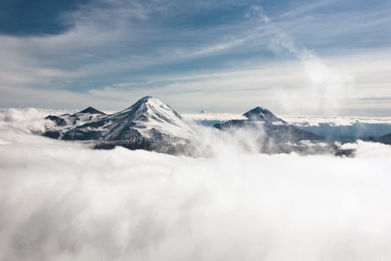 Kamchatka landskap. arkivbilder