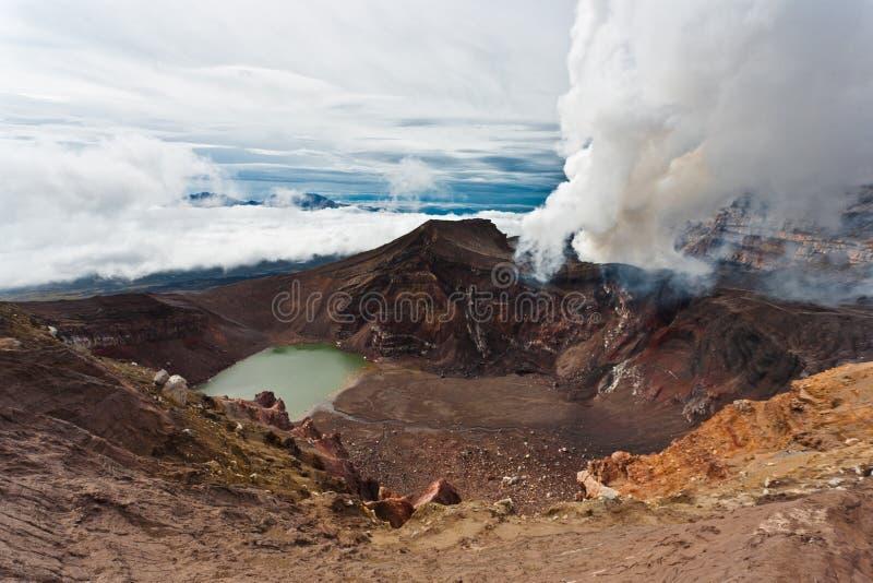 Kamchatka landskap. royaltyfri foto