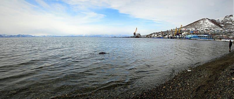 Kamchatka - Oceano Pacífico imagens de stock