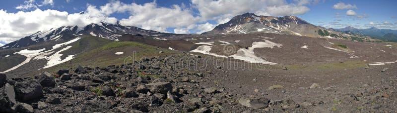 kamchatka panorama arkivbild