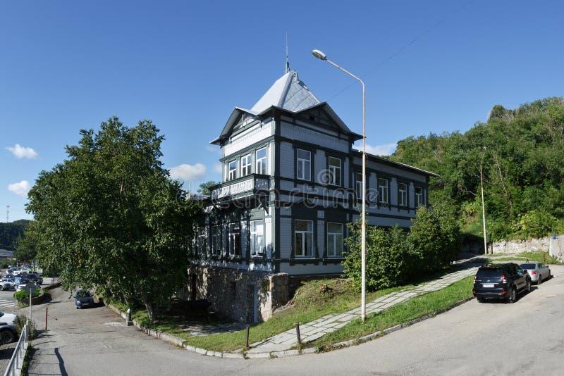 Kamchatka regionalt enat museum Petropavlovsk-Kamchatsky stad royaltyfri bild