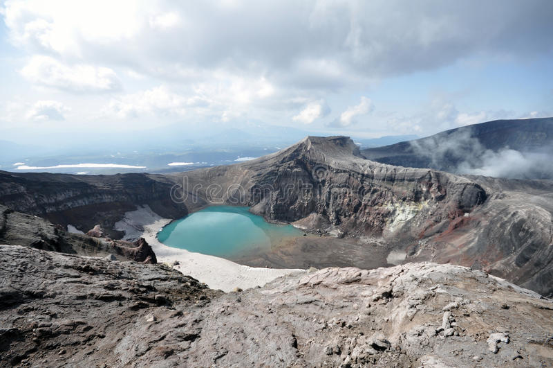 Kamchatka volkano fotografering för bildbyråer
