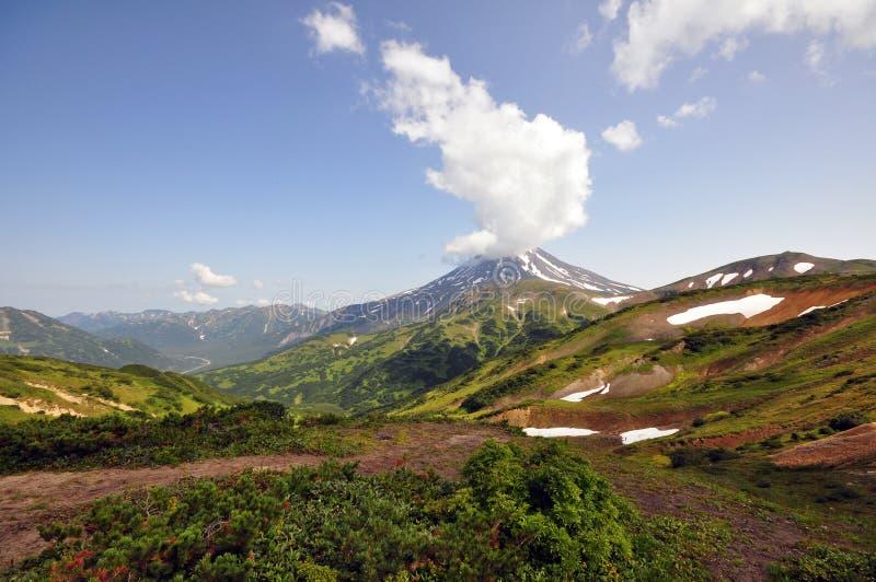 Kamchatka-volkano stockbilder