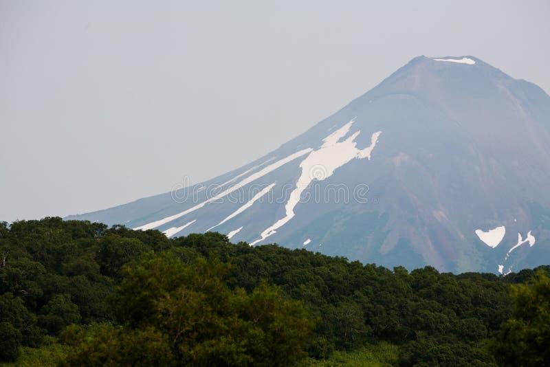 kamchatka vulkan arkivfoto