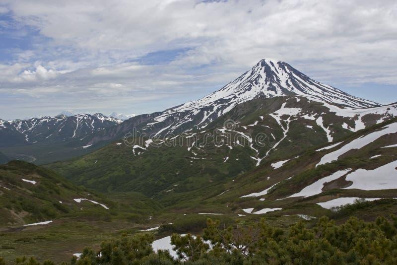 kamchatka wulkanu viluchinskiy fotografia royalty free