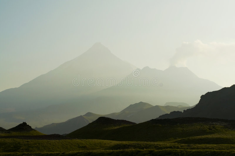 Kamchatkian landscapes royalty free stock photo