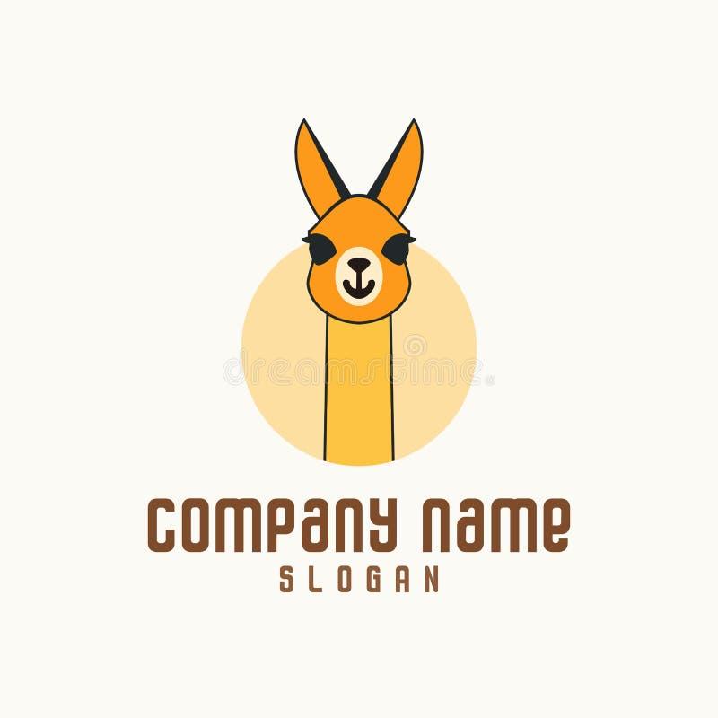 Kameel Oranye Logo Concept royalty-vrije illustratie