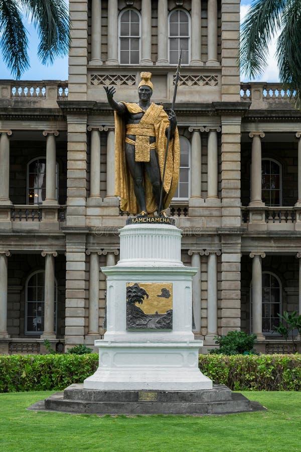 Kamehamehai国王雕象 免版税库存照片