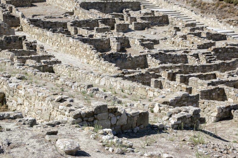 Kameiros oude stad, Rhodos, Dodecanese, Griekenland stock foto's