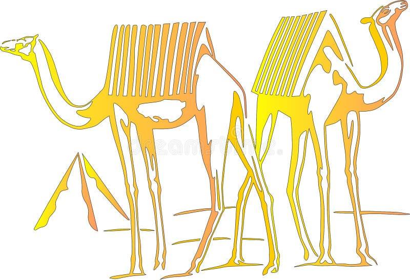 Kamel stock illustrationer