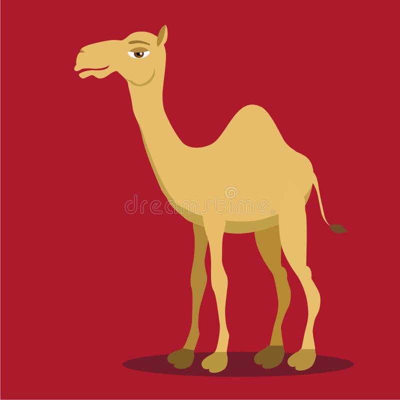 Kamel Arabisk kamel i tecknad filmstil också vektor för coreldrawillustration stock illustrationer