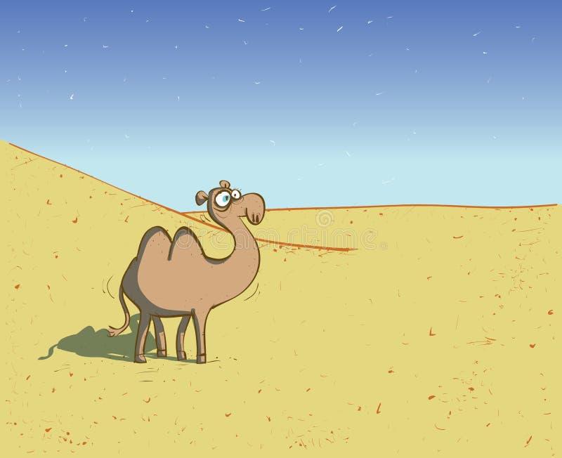 Kamel in der Wüsten-Landschaft vektor abbildung