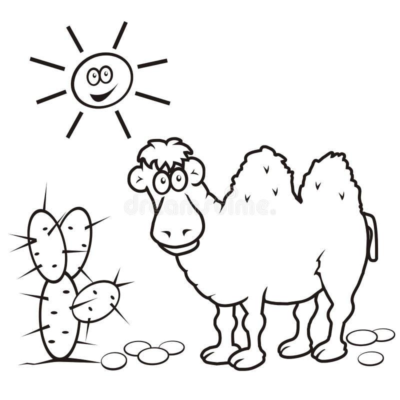 Kamel färgläggningbok royaltyfri illustrationer