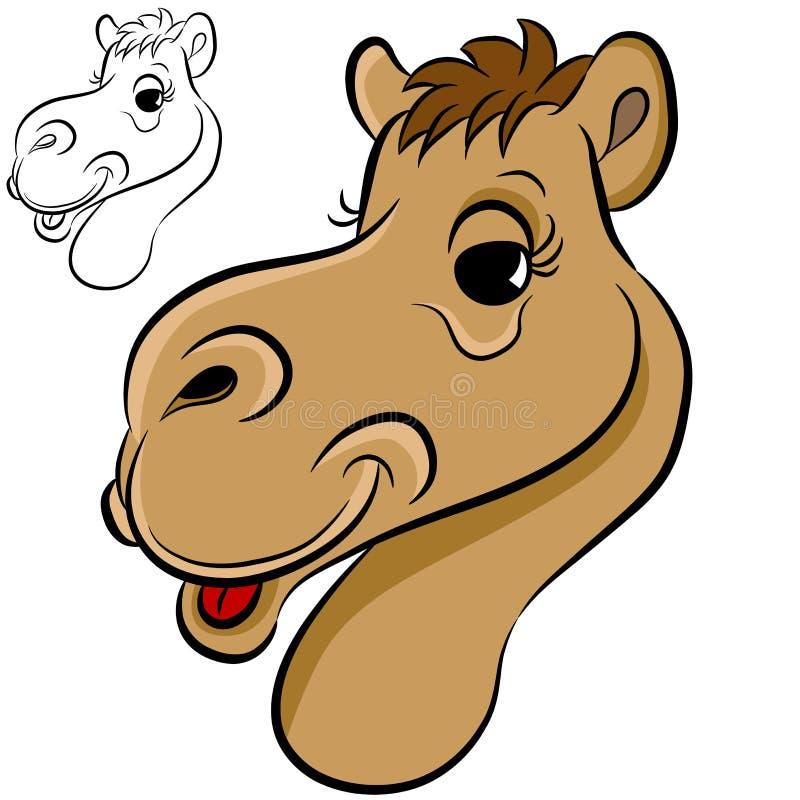 Kamel-Gesicht lizenzfreie abbildung