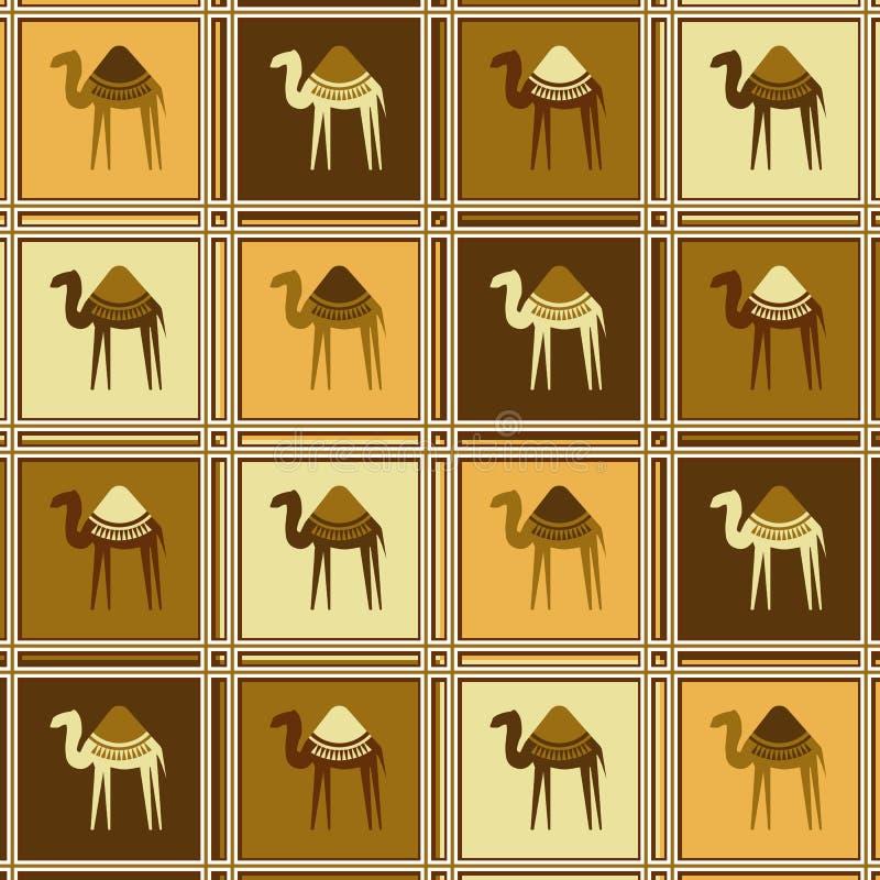 kamel mönsan seamless vektor illustrationer