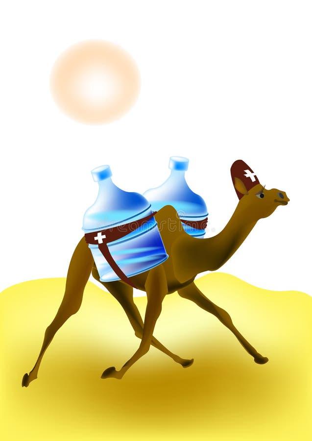 Kamel - räddare stock illustrationer