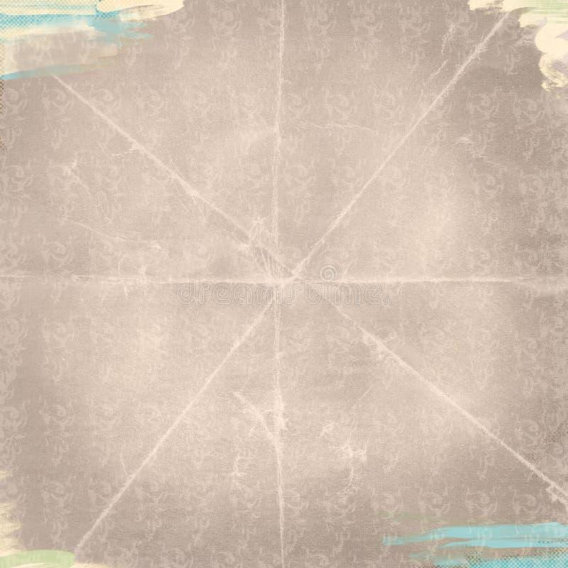 Kamel Tan Brushstrokes Textured för blick för enkel Grungebakgrund sliten stock illustrationer