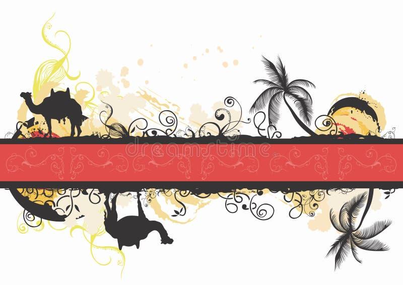 Kamel- und Palmen vektor abbildung