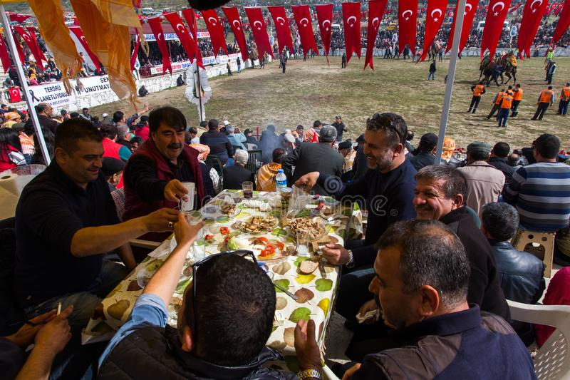 Kamelbrottningfestival i kalkon arkivfoton