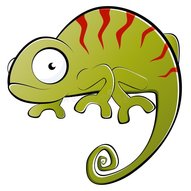 Kameleon ilustracja ilustracji