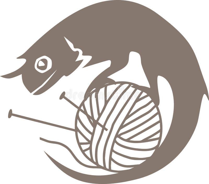 Kameleont på bollen stock illustrationer