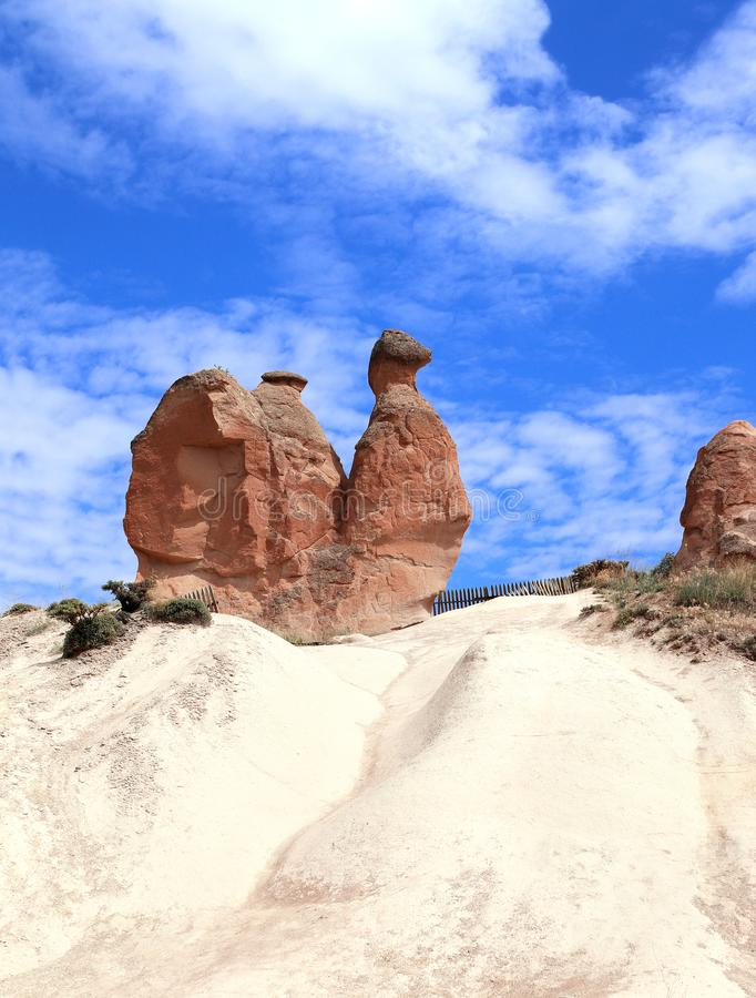 Kamelfelsen an Devrent-Tal, Cappadocia, Anatolien, die Türkei stockfoto