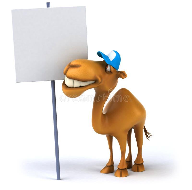 kamelgyckel royaltyfri illustrationer