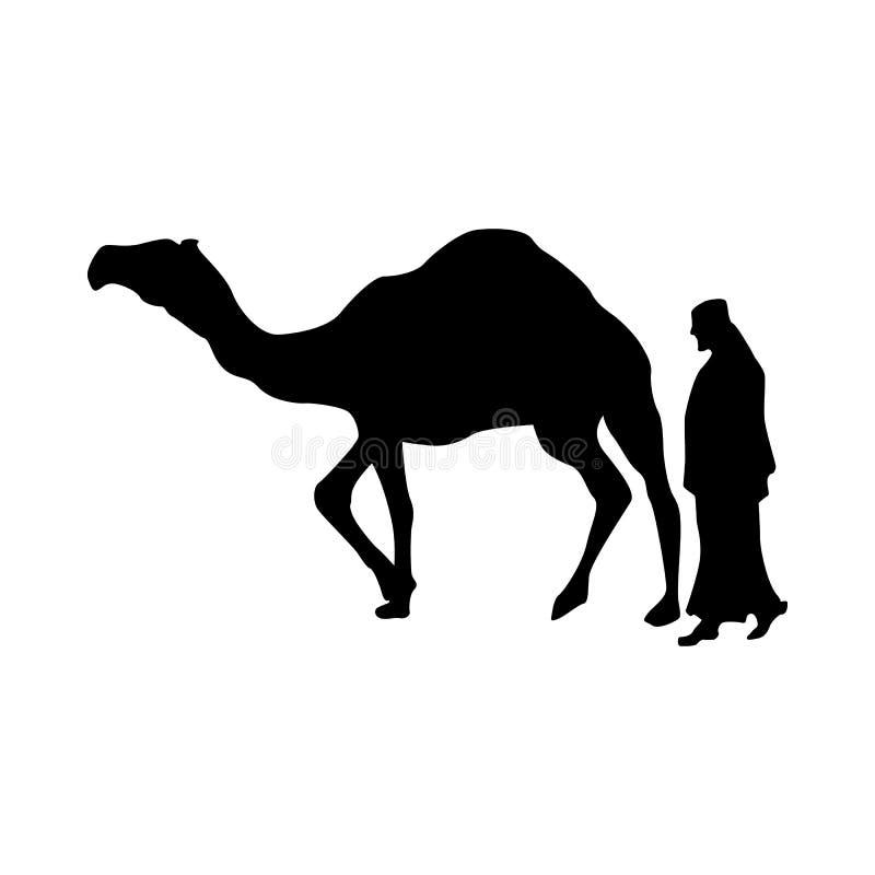 Kamelkontursvart vektor illustrationer