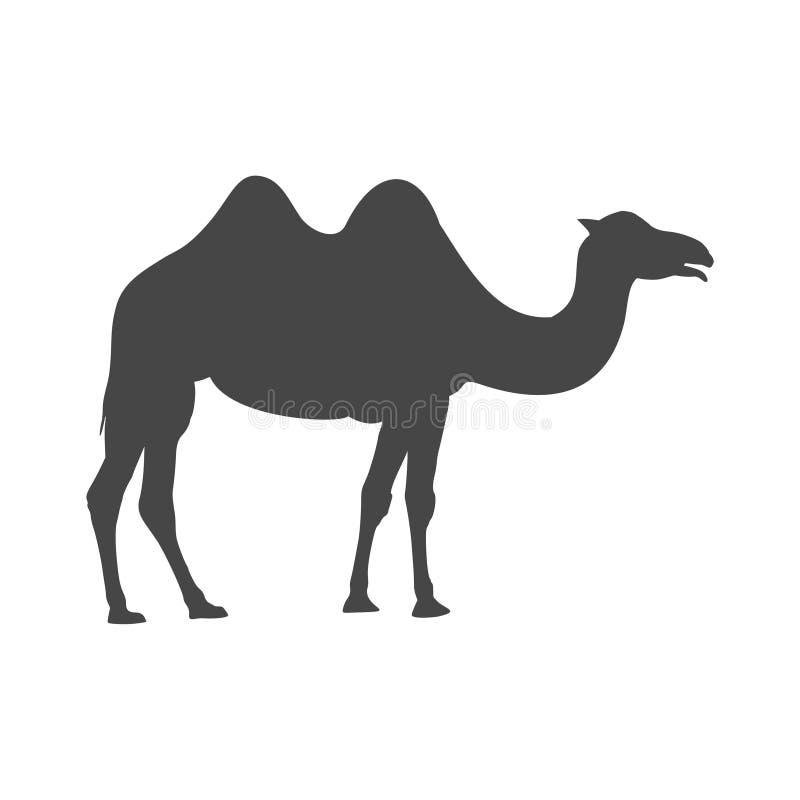 Kamelsymbolskontur, enkel vektor royaltyfri illustrationer