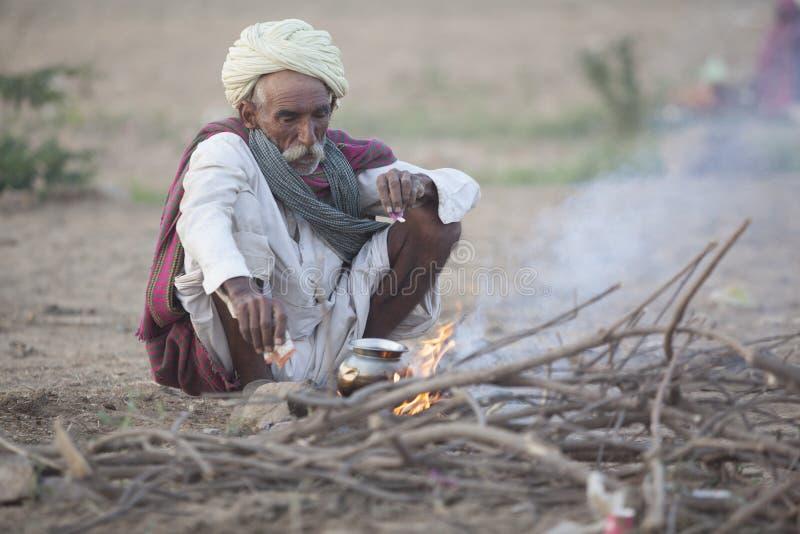 Kamelverkäufer von der Stadt von Pushkar, Pushkar Mela Asien, jaisalmer lizenzfreies stockfoto