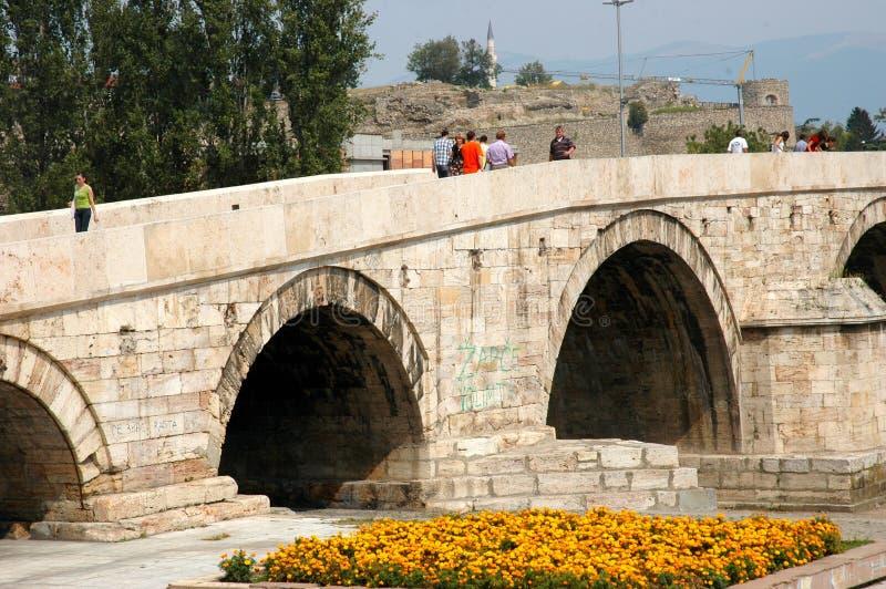 Kamena Najwięcej mosta, Skopje, Macedonia zdjęcia stock