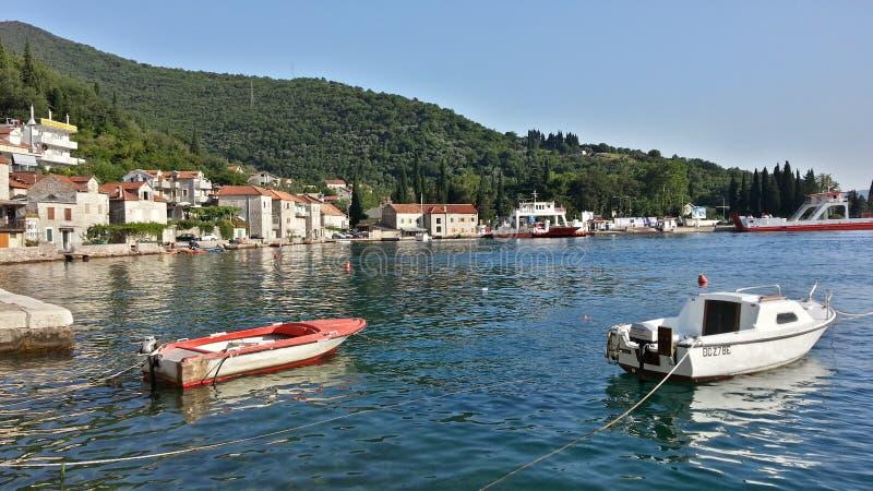 Kamenari, Tivat, Montenegro lizenzfreie stockfotografie