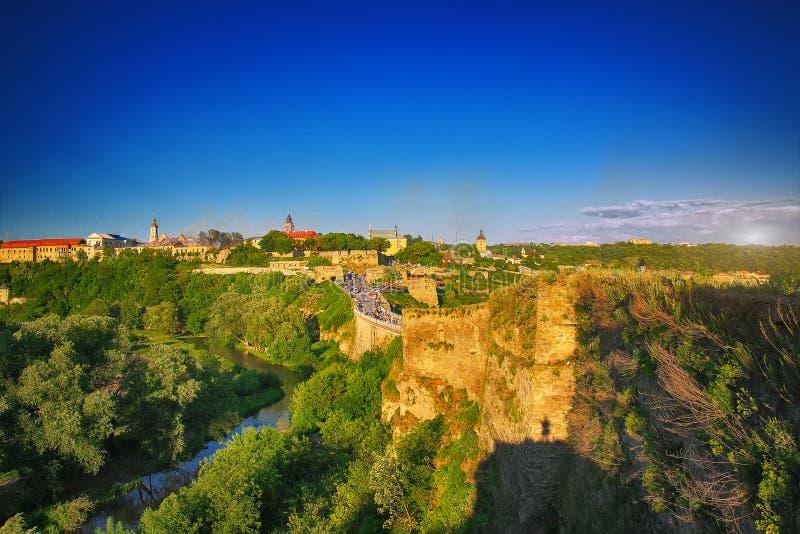 Kamenetz-Podolsk Украина Общая форма стоковая фотография