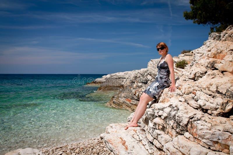 kamenjak пляжа стоковое изображение