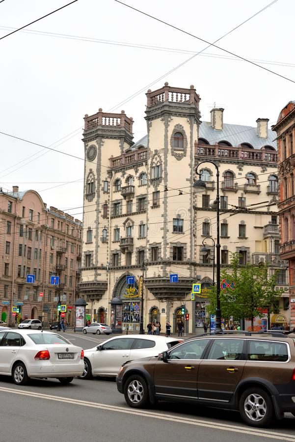 Kamennoostrovsky远景在圣彼德堡 免版税图库摄影