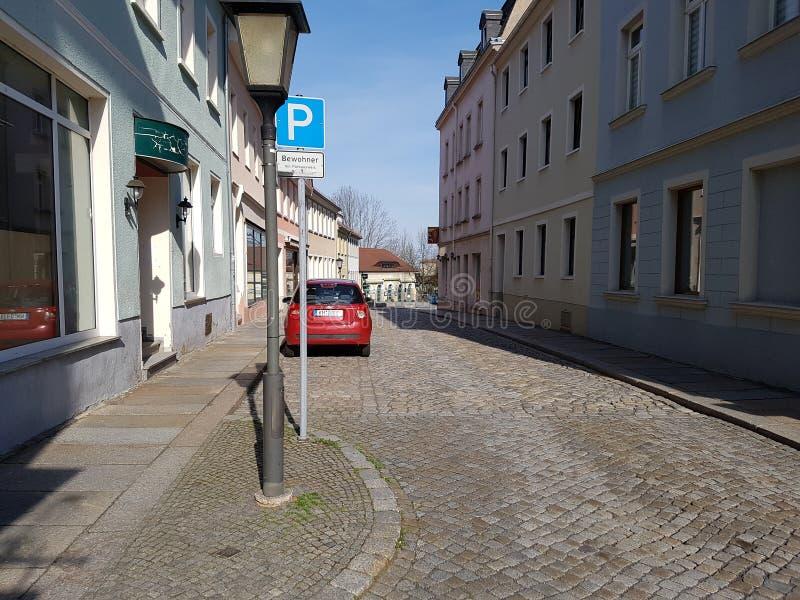 Kamenz altes Deutschland stockbild