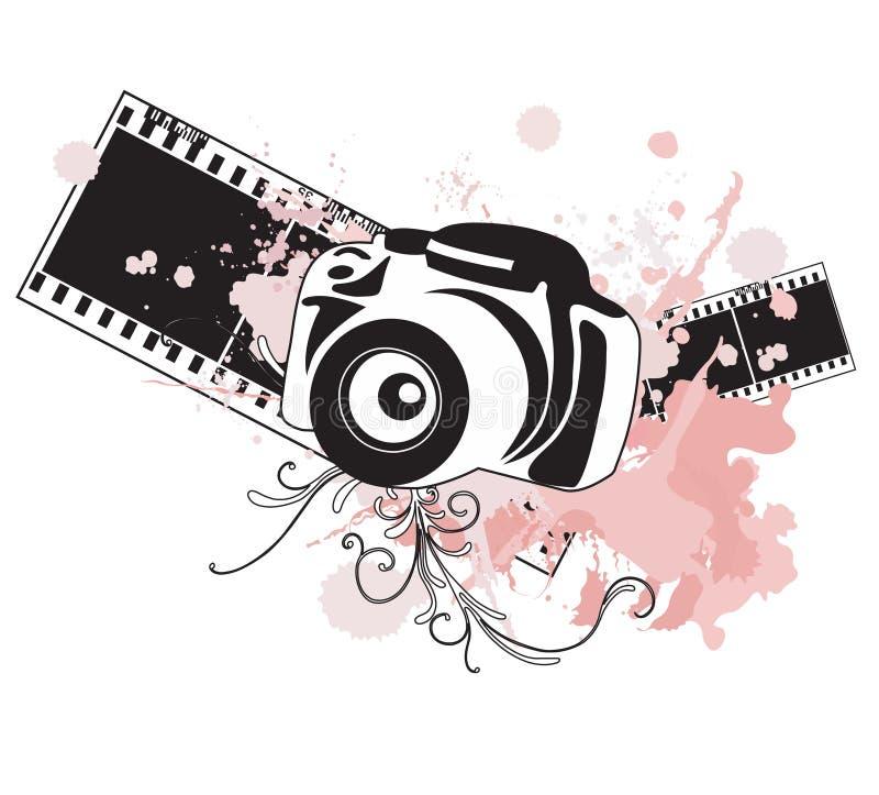 kamera royaltyfri illustrationer