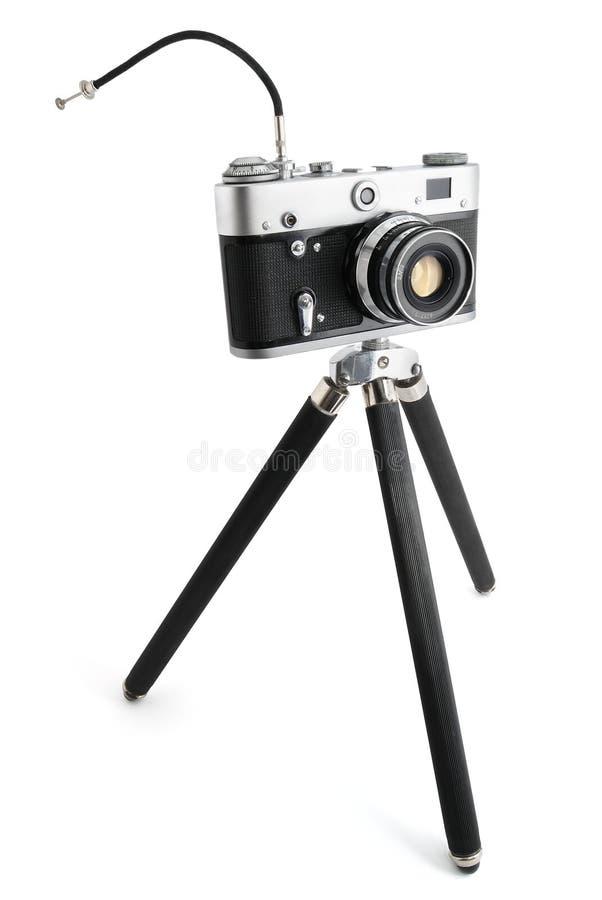 Kamera auf einem Stativ lizenzfreies stockbild