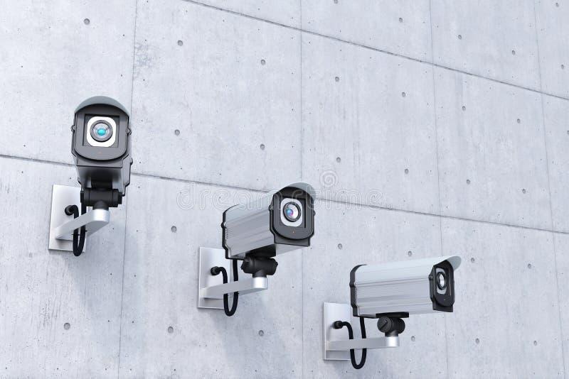 Kamera bezpieczeństwa z copyspace wierzchołkiem ilustracja wektor