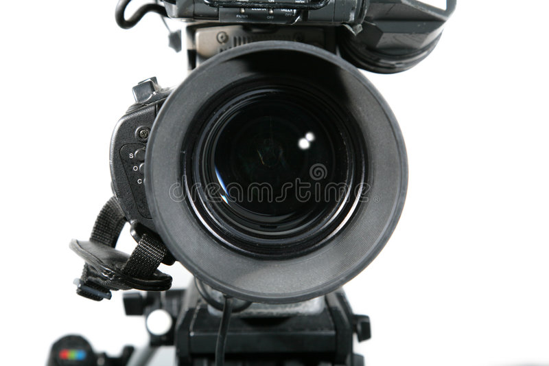 kamera bliżej studia obiektywu tv, obrazy stock