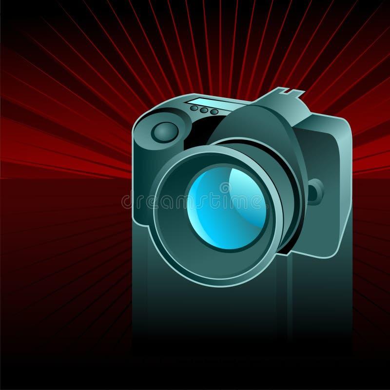 kamera cyfrowa tło ilustracja wektor