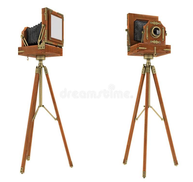 Kamera des großen Formats der Weinlese getrennt lizenzfreies stockbild
