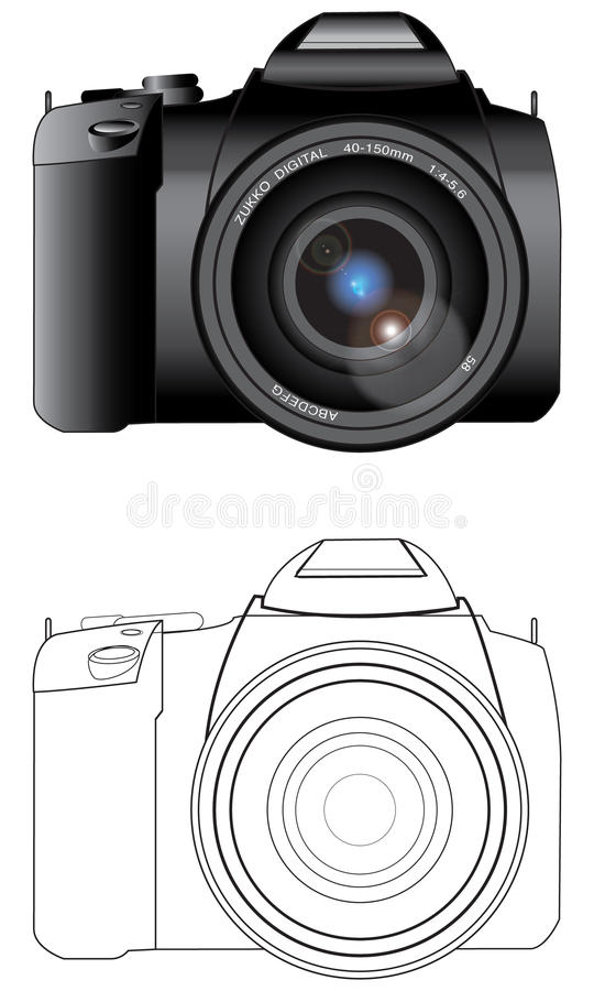 Kamera Digital-SLR stockfoto