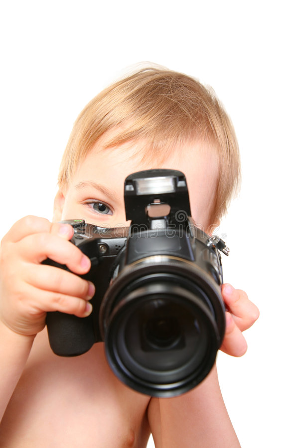 kamera dziecka fotografia royalty free